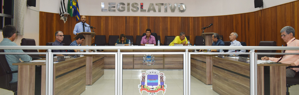 Câmara Municipal realiza a 23ª Sessão Ordinária de 2019