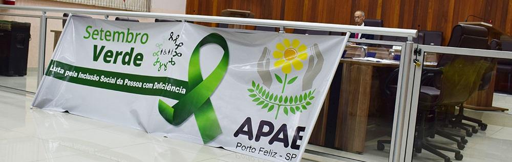 APAE realiza abertura do Setembro Verde na Câmara Municipal